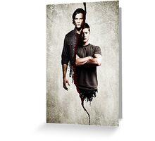 supernatural - dean and sam Greeting Card