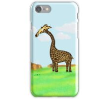 Giraffee Njoying African Summers  iPhone Case/Skin