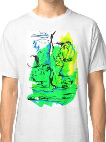 Natural Forms in Green Classic T-Shirt