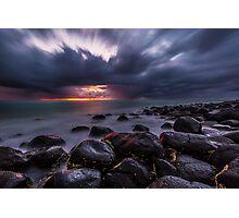 Stormy Burleigh Heads Sunrise Photographic Print