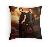 supernatural - dean and sam Throw Pillow
