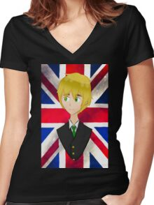 Aph England Hetalia Women's Fitted V-Neck T-Shirt
