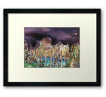 Moonhenge Framed Print