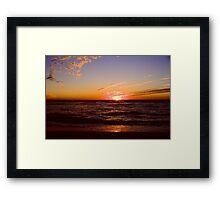 Sanibel Sunset Framed Print