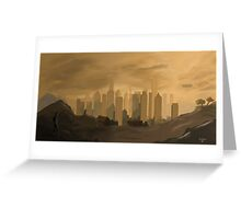Skyscraper city Greeting Card