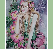 Wild rose fairy tote bag by Gabriella  Szabo