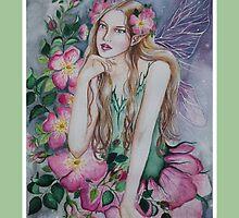 Wild rose fairy tote bag by Gabriella  Szabo