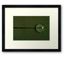 Green Feather Framed Print