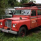 Red Land Rover Series III 109 by Mythos57