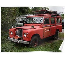 Red Land Rover Series III 109 Poster