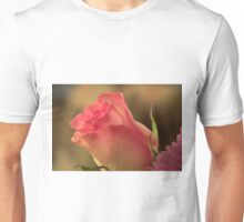 Soft Pink and White Rose, As Is Unisex T-Shirt