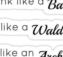 Gossip Girl traits design Sticker