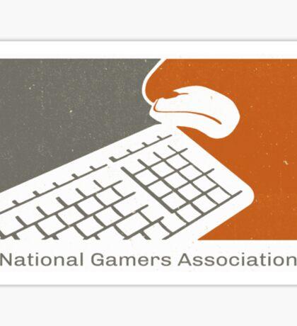 National Gamers Association (retro) Sticker