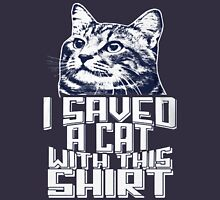 I SAVED A CAT WITH THIS SHIRT Womens Fitted T-Shirt