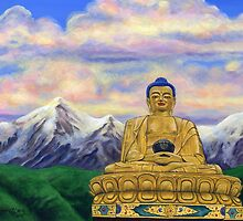 Sitting Still: Golden Buddha, Nepal by Tamara Clark