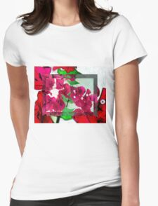 Bougainvillea Art Womens Fitted T-Shirt