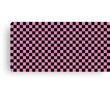 Pink Checkers Canvas Print