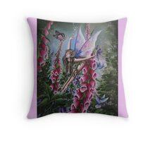 Foxglove fairy 3 tote bag Throw Pillow