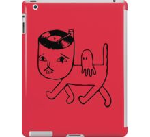 Cat with music in its head iPad Case/Skin