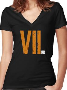 VII Women's Fitted V-Neck T-Shirt