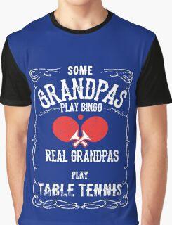 Table Tennis Granpa Graphic T-Shirt