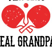 Table Tennis Granpa Sticker
