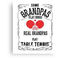 Table Tennis Granpa Canvas Print