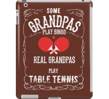 Table Tennis Granpa iPad Case/Skin