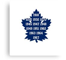 TML Stanley Cup Years V.2 Canvas Print