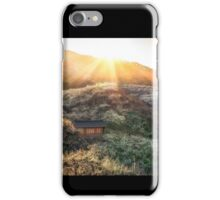 Plum Flower Village at Sunset iPhone Case/Skin