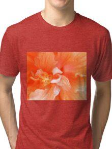 Orange Hibiscus Art Tri-blend T-Shirt