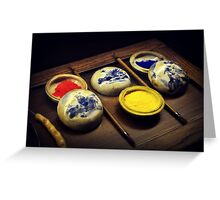 Traditional Chinese Pigments Greeting Card