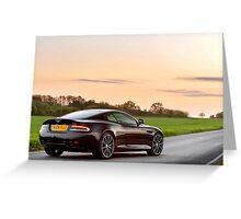 Aston Martin DB9 Carbon Black Edition ... Greeting Card