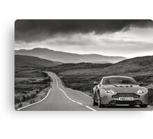 Aston Martin V12 Vantage S in North Wales ... Canvas Print