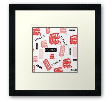 pattern with London symbols. Framed Print