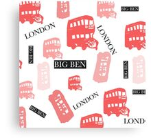 pattern with London symbols. Canvas Print