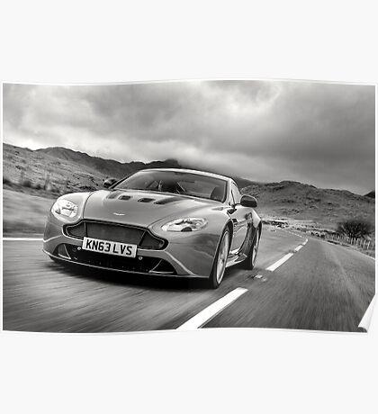 Aston Martin V12 Vantage S in North Wales ... Poster