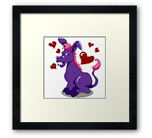Love Donkey Framed Print