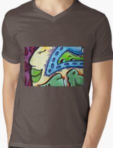 Graffiti Beauty Mens V-Neck T-Shirt