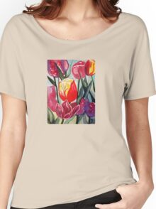Spring Tulips Women's Relaxed Fit T-Shirt
