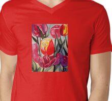 Spring Tulips Mens V-Neck T-Shirt