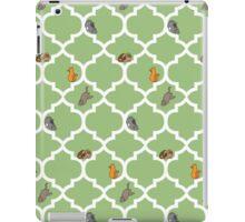 Cats On A Lattice - Green iPad Case/Skin