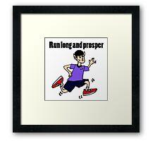 Cool Funny Vulcan Jogging Cartoon Framed Print