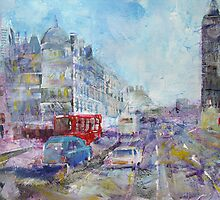 Road To Big Ben - London Art Gallery by Ballet Dance-Artist