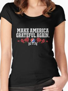 Make Grateful Again - America Women's Fitted Scoop T-Shirt