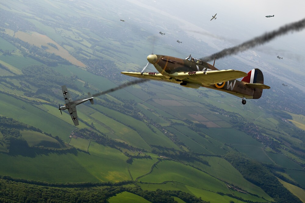 Battle of Britain dogfight by Gary Eason + Flight Artworks