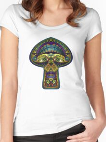 The Great Mushroom in the Sky Women's Fitted Scoop T-Shirt