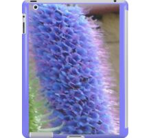 Blue Flower Spike iPad Case/Skin