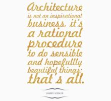 """Architecture is not an... """"Harry Scidler"""" Inspirational Quote One Piece - Short Sleeve"""