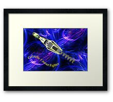 A Combination Galactic Cruiser/Fighter  Framed Print